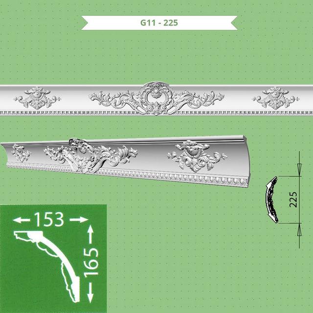 Плинтус потолочный G11-225