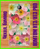 """Чехол, бампер с принтом """"цветы"""" для HOMTOM HT3/HT3 PRO"""