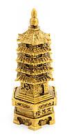 Статуэтка Пагода Бронза каменная крошка (12х4,5х5,5 см)