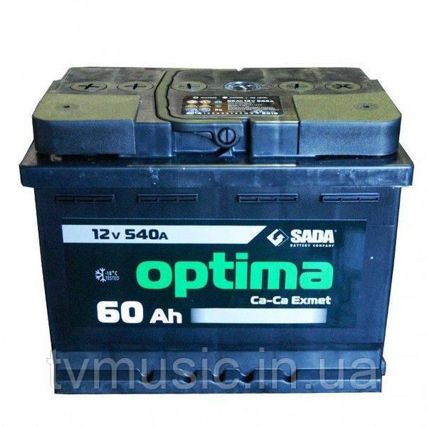 Аккумулятор SADA 6СТ-60Аз Optima