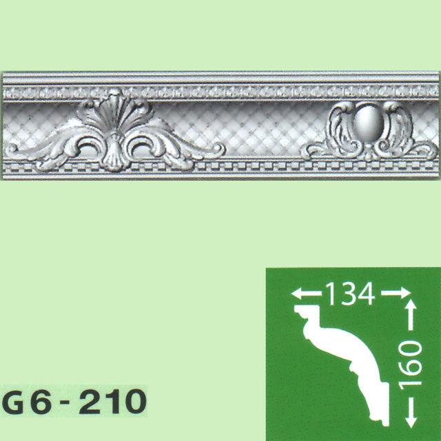 Плинтус потолочный G6-210