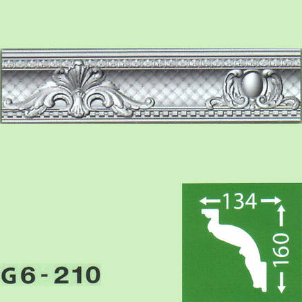Плинтус потолочный G6-210, фото 2