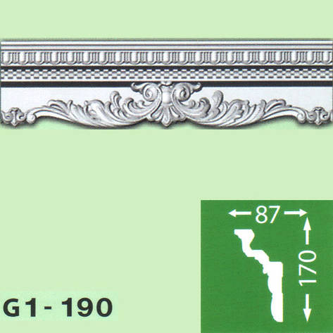 Плинтус потолочный G1-190, фото 2