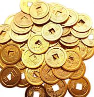 Монета фэн-шуй под золото (диаметр 3 см)