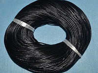 Шнур кожаный 20101-1 чёрный 10 м