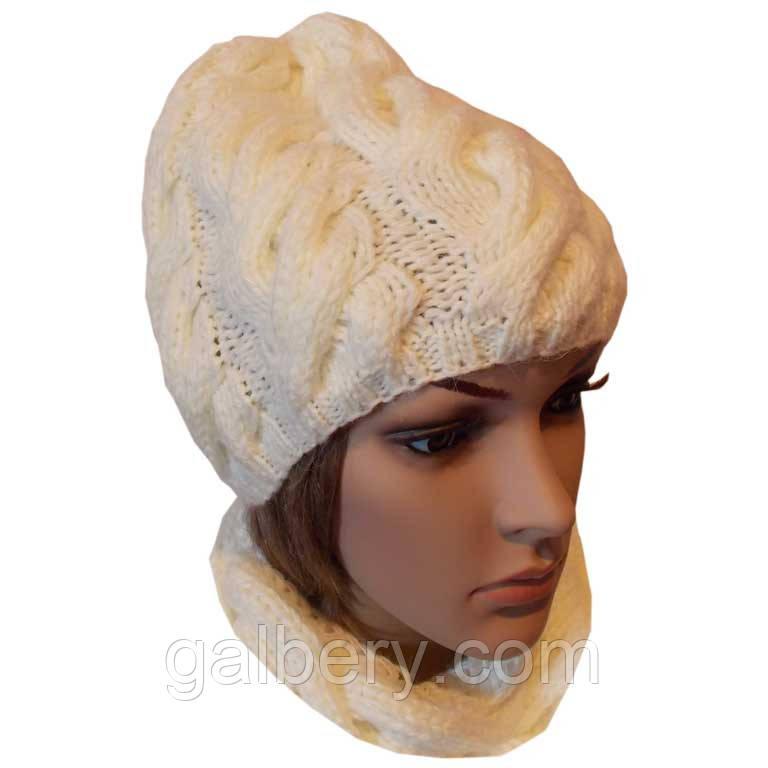 Жіноча шапка ручної роботи
