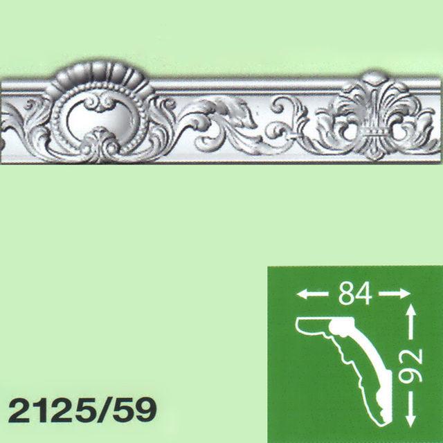 Плинтус потолочный B-2125-59