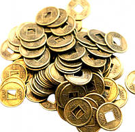 Монета фэн-шуй под бронзу (диаметр 1,4 см)