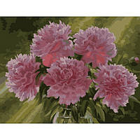"""Картина по номерам """"Розовые пионы в вазе"""" 40х50 см."""