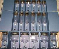 Подарочный набор бокалов Bohemia Julia Gold (40428/43249/60-18)18 пр.