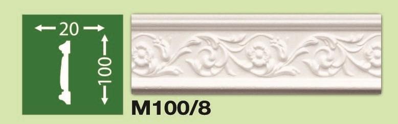 Плинтус потолочный М100/8