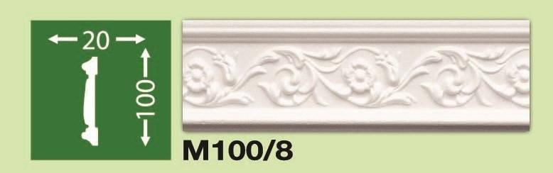 Плинтус потолочный М100/8, фото 2