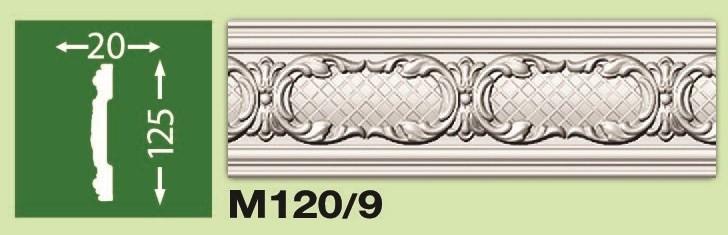 Плинтус потолочный М120/9