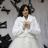 Свадебная шубка шалька украшенная