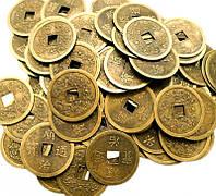 Монета фэн-шуй под бронзу (диаметр 3,7 см)
