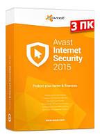 Avast! Internet Security, базовая лицензия, на 12 месяцев, на 3 ПК,  ESD - электронная лицензия