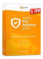 Avast! Pro Antivirus, базовая лицензия, на 12 месяцев, на 1 ПК,  ESD - электронная лицензия