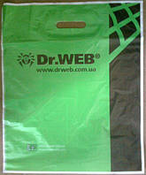 Пакеты полиэтиленовые с укрепленной вырубной ручкой Dr.WEB