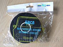 Скотч Saca Plus 40х1мм 5м двухсторонний высокотемпературный автомобильный для авто лента сака плюсТайвань