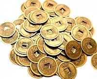 Монета фэн-шуй под бронзу (диаметр 2,4 см)