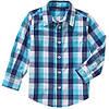 Рубашка для мальчика Wrangler с длинным рукавом в голубую клетку р.3Т