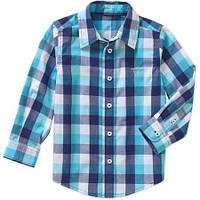Рубашка Wrangler с длинным рукавом в голубую клетку