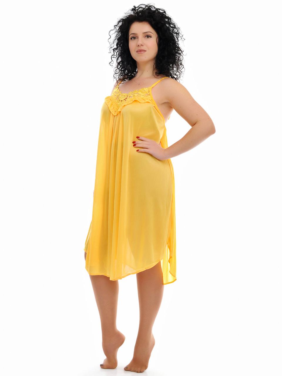 Желтая ночная сорочка