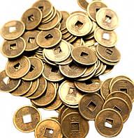 Монета фэн-шуй под бронзу (диаметр 2 см)