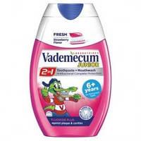 Детская зубная паста Vademecum Junior fresh Strawberry от 6 лет 75 мл Ваденекум мята клубника