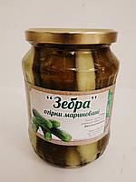 Огірки Зебра  (0,7л) ОРА АГРО-ЕКО, фото 1