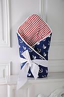 Конверт-одеяло на выписку Морской Деми, фото 1