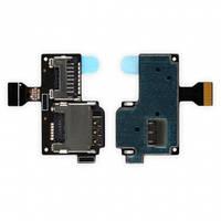 Шлейф с держателем (разъемом) SIM карты и карты памяти для Samsung i9190, i9195 Original