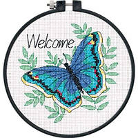 "Набор для вышивания крестом ""Бабочка//Welcome Butterfly"" DIMENSIONS"