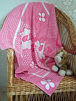 Детское одеяло байковое Овечки 90х100