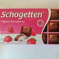 Шоколад Молочный Schogetten Йогурт-Клубника  Шогеттен 100г.