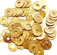 Монета фэн-шуй под золото (диаметр 1,4 см)