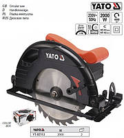 Пила дискова ручна W= 2 кВт Ø= 235/25,4 мм кут 0-45° YATO-82153