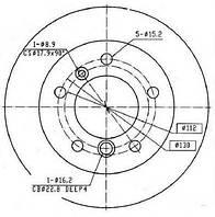 Диск гальмівний (производство Ferodo ), код запчасти: FCR229A