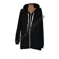 Женская трикотажная куртка (БАТАЛ) с начесом 76-7 оптом в Одессе