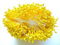 Тычинки для цветов желтые 100 шт
