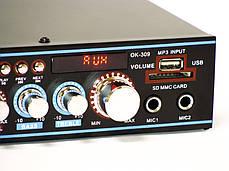 Стерео усилитель UKC OK-309 Karaoke USB/FM, фото 3