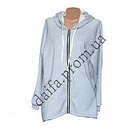 Молодежная трикотажная куртка с начесом 76-11 оптом в Одессе