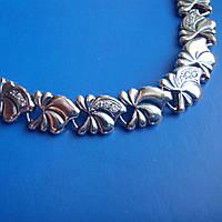 Cеребряный женский браслет со вставками фианита, 190мм