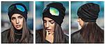 Женская модная шапка со съемными очками, фото 4