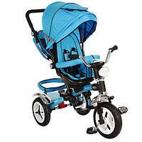 Велосипед детский трехколесный Turbo Trike М-3199 надувные колеса поворотное сиденье Турбо трайк