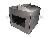 Коробка для упаковки торта 300*300*250 с окном