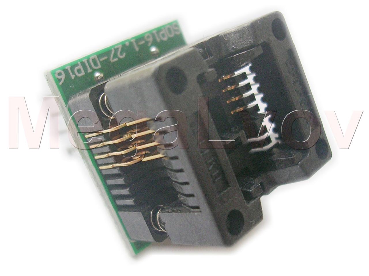Зажим  - переходник адаптер SOP8 - DIP8 150mil