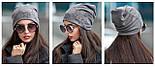 Женская модная шапка из ангоры со звездами (4 цвета), фото 2