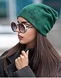 Женская модная шапка из ангоры со звездами (4 цвета), фото 5