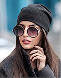 Женская модная шапка из ангоры со звездами (4 цвета), фото 6
